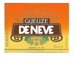 ETIQUETTE BIERE GUEUZE / BR. DENEVE / 1750 SCHEPDAAL - Beer