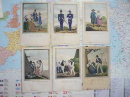 Costumes Régionaux De Teschen 1840-1848 8 Cartes - Illustrateurs & Photographes