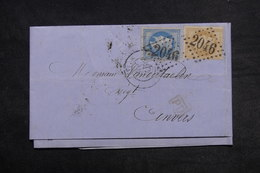 FRANCE - Lettre De Lille Pour Anvers En 1870 , Affranchissement Napoléons - L 33221 - Storia Postale