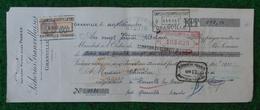 Lettre De Change Avec Timbre Fiscal Datée De 1931 - Sécheries Granvillaises Sise à Granville - Bills Of Exchange