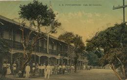 Puntarenas Calle Del Comercio  Edicion Luis Robert Hand Colored - Costa Rica