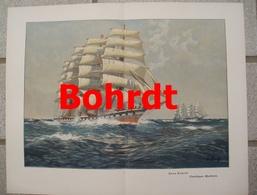 971 Bohrdt Segelboote Wettfahrt 35 X 27 Cm Großbild 1902 !! - Prints