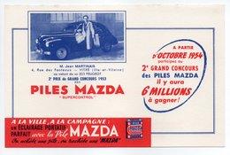 - BUVARD PILES MAZDA - M. Jean MARTINAIS - - Piles