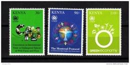 2012 Kenya  UNEP 40th Anniversary Series Two GREEN Environment Wind CITES Ivory MNH - Kenya (1963-...)