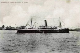 ANVERS-ANTWERPEN - Départ Du Bateau Du Congo - Oblitération De 1908 - Antwerpen