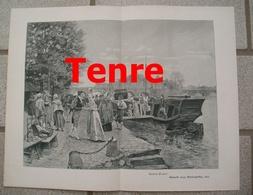 972 Cenre Ankunft Eines Marktschiffes 35 X 27 Cm Großbild 1902 !! - Prints