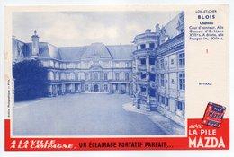 - BUVARD PILE MAZDA - LOIR-ET-CHER - Château De BLOIS - - Batterijen