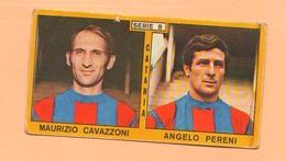 Calcio PANINI VALIDA Figurine Calciatori Serie B Catania CAVAZZONI + PERENI 1969 / 1970 - Edizione Italiana