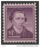 1958 Liberty Series $1.00 Patrick Henry, Mint Never Hinged - Stati Uniti
