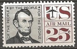 1959 25 Cents Airmail Lincoln Mint Never Hinged - United States