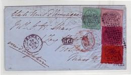 ITALY - 4 Colour 1869 Cover From ROMA To BOSTON-USA Via ENGLAND - E. DIENA Certificate - Stato Pontificio