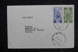 LIBAN - Enveloppe De Beyrouth Pour La Suisse En 1954 , Affranchissement Plaisant - L 33232 - Liban