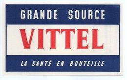 - BUVARD VITTEL - GRANDE SOURCE - LA SANTÉ EN BOUTEILLE - - Buvards, Protège-cahiers Illustrés