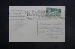 FRANCE - Jeux Olympiques Sur Carte Postale De Royan En 1924 Pour Paris - L 33235 - Marcophilie (Lettres)