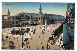 Tarjeta Postal De Hamburgo Circulada Hauptbahnhof - Alemania
