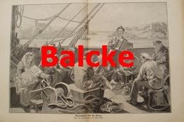 977 Balcke Auswanderer Donau 40 X 28 Cm Großbild 1904 !! - Prints
