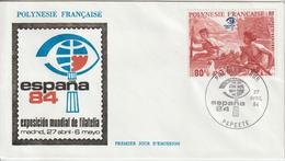Polynésie FDC 1984 Espana 84 PA 182 - FDC