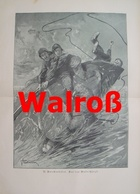 978 Brockmüller Walrossjagd 28 X 39 Cm Großbild 1897 !! - Prints