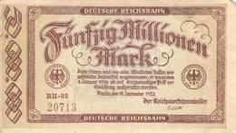 50 Mio Deutsche Reichsbahn VF/F (III) - [ 3] 1918-1933 : Repubblica  Di Weimar