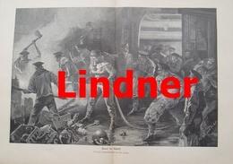 980 Lindner Feuer Im Schiff Matrosen 41 X 28 Cm Großbild 1901 !! - Prints