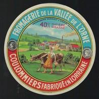 Ancienne Etiquette Fromage Coulommiers De La Vallée De L'orne Fromagerie Hurault Dieppe  Meuse 55 - Cheese