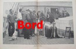 981 Sundthansen Begräbnis An Bord 40 X 28 Cm Großbild 1907 !! - Prints