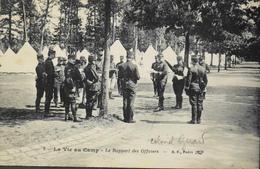 CPA. - FR. > A Identifier > La Vie Au Camp - Le Rapport Des Officiers Colonel GIRARD ? - BE - Postcards