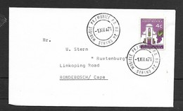 S.Africa, Cover, 4c, MOBIELE PK / MOBILE P.O. No24 - STRAND - 1 XII 71 C.d.s. > Rondebosche - South Africa (1961-...)