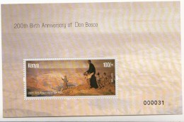2015 Kenya Don Bosco Bicentenary 100/- Souvenir Sheet - Kenya (1963-...)