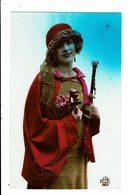 CPA - Carte Postale -Pays Bas Hartelijk Gefeliciteerd- Une Jeune Femme Avec Son Chapeau 1926  VM3921 - Wensen En Feesten