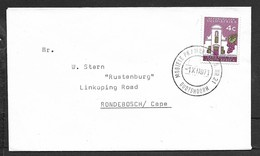 S.Africa, Cover, 4c, MOBIELE PK / MOBILE P.O. No21 OUDTSHOORN - 1 XII 71 C.d.s. > Rondebosche - South Africa (1961-...)