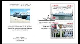 Tunisie 2019- Navire ISTIKLAL Première Pièce Navale De L'armée Tunisienne+Musée Militaire Nationale FDC - Tunisia