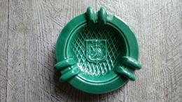 Rare Ancien Cendrier Publicitaire Des Messageries Maritimes Licorne Marine - Ashtrays