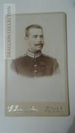 D164575 CDV  Cabinet Photo  - G.Franzelius -Berlin   - Ca 1880-90 - Young Man  Uniform Military Officer - Fotos