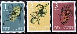 SURINAM . SURINAME Yt 476, 477, 478.  Domestic Fruits , Traces Charnières - Surinam