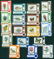 GIBRALTAR #340-355a  - FAUNA AND FLORA  - DEFINITIVES  1977-1980   -  MINT - Gibraltar