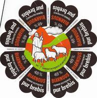 ETIQUETTE   DE  FROMAGE  18 Cm     PYRENEES  BIARNOUS PUR BREBIS - Cheese