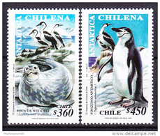Chile - Chili 1999 Yvert 1488- 89, Chilean Antarctic, Fauna - MNH - Chile