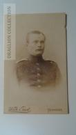 D164582 CDV  Cabinet Photo  -Wilh. Ernst, Hannover   - Ca 1890-1900 -  Uniform Military -Soldat Soldier - Fotos