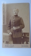 D164583 CDV  Cabinet Photo  -Wilh. Ernst, Hannover   - Ca 1890-1900 -  Uniform Military -Soldat Soldier - Fotos
