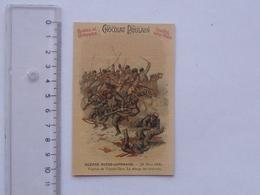 CHROMO Chocolat POULAIN PROGRES: Guerre Russo-Japonaise (29 Mars 1904) - Combat De TCHOUN-DJOU. La Charge Des Cosaques - Poulain
