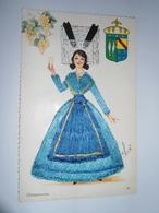 C.P.A.- Femme En Tenue Champenoise Brodée - 1960 - SUP  (BU 73) - Embroidered