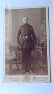 D164584 CDV  Cabinet Photo  -E.Rohrmann  Hannover   - Ca 1890-1900 -  Uniform Military -Soldat Soldier - Fotos