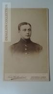 D164585 CDV  Cabinet Photo  - Fritz Walkenhorst,  Hannover-Linden   - Ca 1890-1900 -  Uniform Military -Soldat Soldier - Fotos