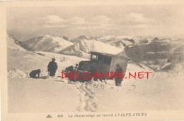 38 // Le Chasse Neige Au Travail à L'ALPE D HUEZ - Autres Communes