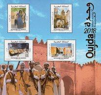 Morocco - 2018 - Oujda Capital Of Arab Culture 2018 - Mint Souvenir Sheet With Hot Foil Intaglio Imprint - Morocco (1956-...)