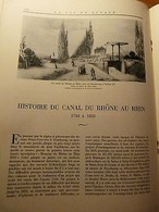 LA VIE EN ALSACE-Eglise De Vieux-Thann-Abbaye Biblisheim-Canal Du Rhône Au Rhin - 1901-1940