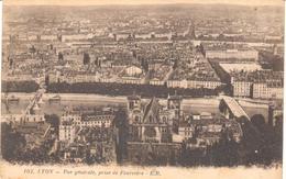 POSTAL   LYON  -FRANCIA  -VUE GÉNÉRALE PRISE FOURVIÉRE  (VISTA GENERAL DESDE FOURVIERE) - Lyon