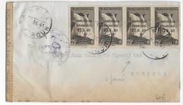 "CAMEROUN - 1940 - FRANCE LIBRE - LETTRE De KRIBI Avec CENSURE => EBOLOWA - YVERT N° 215 Dont RARE VARIETE 4 ""FERME"" !! - Covers & Documents"