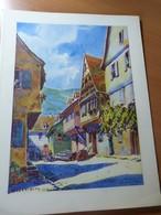 Hansi. Kaysersberg. Reproduction D'une Aquarelle. Alsace - Livres, BD, Revues